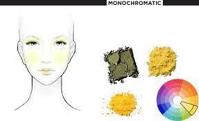 μονοχρωματικό μακιγιάζ