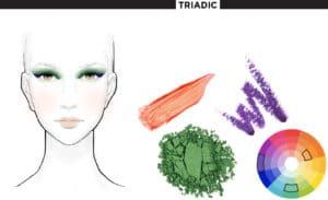 τριαδικά χρώματα στο μακιγιάζ